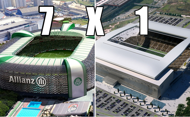 8a1637ebd7 Allianz Parque 7 x 1 Arena Corinthians - Blog do Milton Neves - BOL